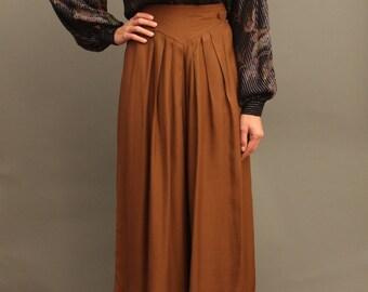 Vintage Sophisticated Wide Skirtpant
