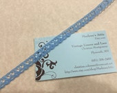 1 yard of 1/2 inch Antique Blue chantilly lace trim for sewing, crafts, costume, spring, couture by Marlenes - Item 6EE