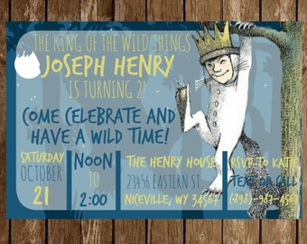 Where The Wild Things Are Birthday Party Invitation Download