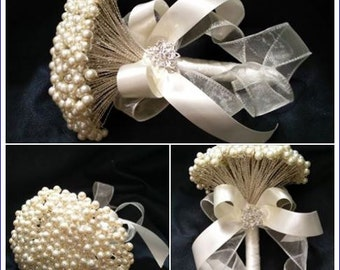 Pearl brides bouquet  - Perfect for a vintage wedding