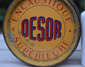 French Vintage Desor Tin *Free Shipping*