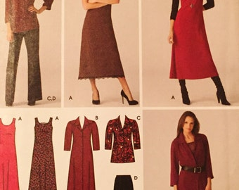 uncut nos printed sewing pattern//womens pants, dress, jumper.shirt and tunic//multi size pattern//20w-28w//by simplicity
