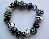 Black & White Big Beaded Bracelet