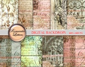 Digital Scrapbook Paper Pack Shabby Chic digital background Shabby Chic wedding newborn digital photo backdrop printable decoupage paper