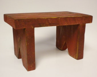 Small Bench - Made To Order, Mini Bench Risers, Table Risers, Primitive Benches, Country Farmhouse Decor