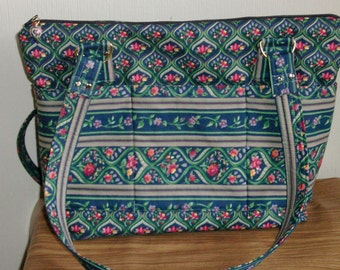 965 Dark blue purse with floral design