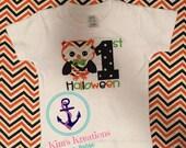 1st halloween owl shirt