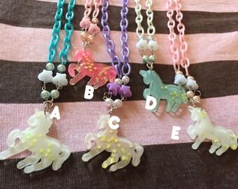 Kawaii fairy kei pop kei pastel goth harajuku fashion unicorn necklace