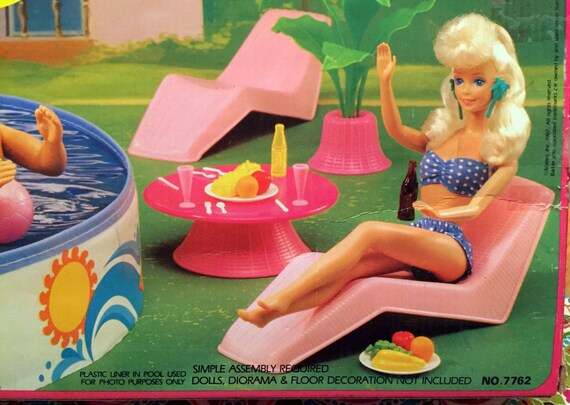 Barbie Pool Party 1987 Vintage Set California Dream Arco Set