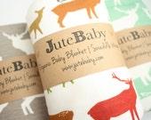 Organic Baby Blanket | Elk Deer Baby Blanket | Organic Swaddle Blanket | Deer Blanket by JuteBaby