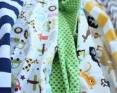 Animals Baby Burp Cloths   Oversized Baby Burp Cloths by JuteBaby