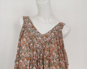 Mink floral 90s bohemian hippie grunge summer dress