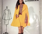 Uncut New Look Pattern by SIMPLICITY 6152 Size 8 10 12 14 16 18 From 2012 - Modern Misses' & Womens Cape and Skirt -Year 2012