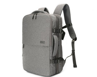 Pro Deluxe Air mesh cushion Expandable Backpack (Gray)