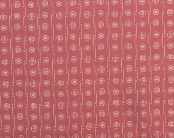 Cotton Japanese Fabric Maroon Fabric Yuwa Live Life Sewing Fabric Asian Fabric - Nearly 1 Yard - CFL1481