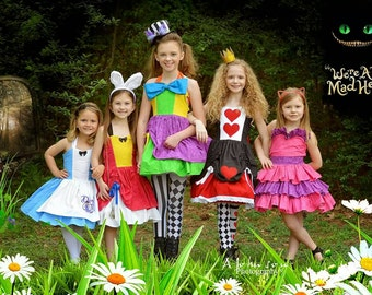 Queen of Hearts Inspired MiniBelle Ruffle Dress for Girls - Pageant - Birthday - Party - Celebration - Special Occasion - Costume