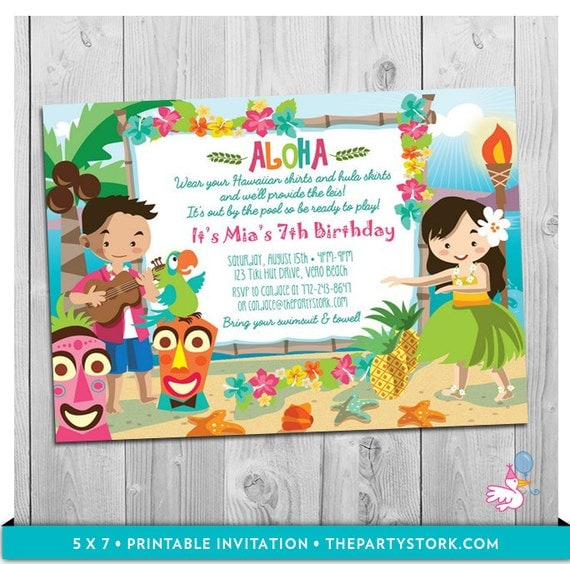 luau party invitation printable girls birthday hawaiian luau, hawaiian party invitations, hawaiian party invitations australia, hawaiian party invitations download