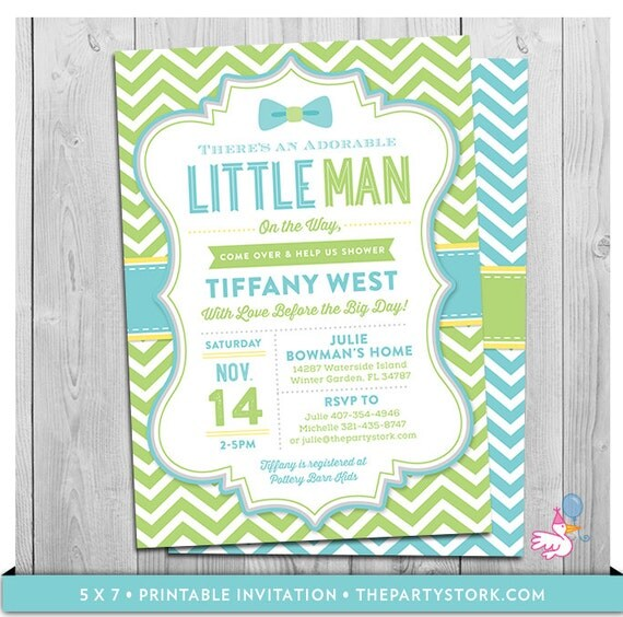 little man baby shower invitations bowtie theme printable boy baby