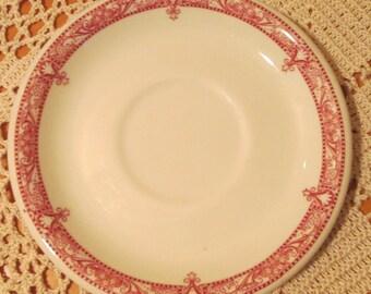 Vintage Shenango China Red Edgemere Pattern Restaurant Ware Saucer