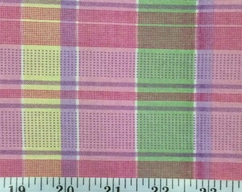 Cotton Fabric / Pastel Cotton Fabric/ Pastel Stripe / Cranston Print Works / 1.9 Yards