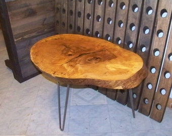 Wood Slab Coffee Table Live Edge End Table Solid Top Table Wood Table