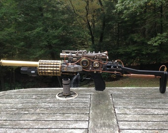 custom orders only. Steampunk Rifle, Steampunk Machine Gun, Ray Gun,