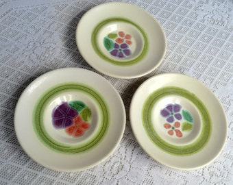 Vintage Franciscan Ware Floral Saucers / Earthenware Plates / California Pottery