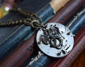 Steampunk Dragon Necklace, Once Upon A Time, Maleficent, Dragon Jewelry, Steampunk Jewelry, Sleeping Beauty, Disney Jewelry, Disney Necklace
