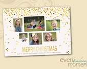 Christmas Photo Card, Photo Christmas Card, Holiday Photo Card (digital or print yourself) custom, personalized