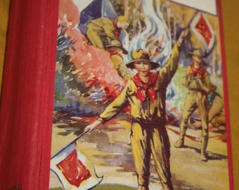 A Boy Scout On Duty By George Durston 1927 Hardcover Red Book