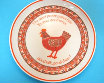 1983 Lasting Memories American Greeting Corp Chicken Plate Nicest People Gather