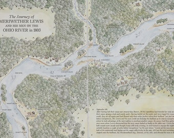Map of Meriwether Lewis on the Upper Ohio River