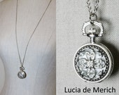 Moroccan Pocket Watch necklace -Time Piece, Pocket Watch, Unisex- Coupon code.