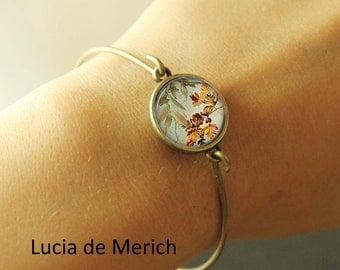 Autumn leaf bracelet -Autumn jewelry - Gift-  -  coupon code - black friday - cyber monday