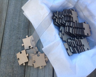 50 Blank Puzzle Pieces for Wedding Guest Book Puzzle / Anniversary / Special Occasion