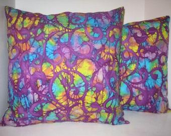 Handmade batik pillow covers