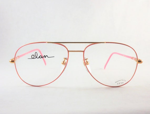 Gold Frame Glasses Tumblr : Bubblegum Pink Aviators Unisex Big Eyeglasses Mens or Womens