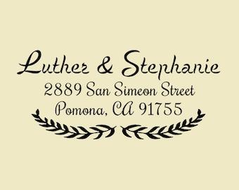 Return address stamp,personalized SELF INKING custom  wedding address stamp with leaf,branch,family address stamp,S76