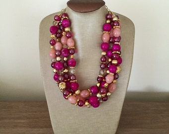 Our Uptown Collection in Berry and Gold
