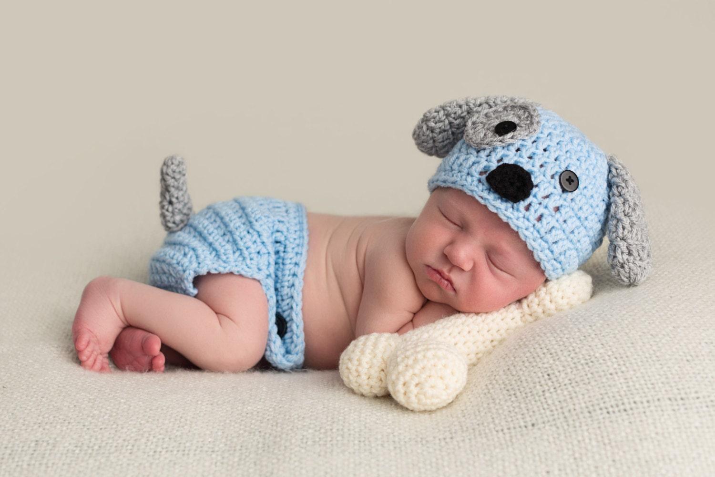 Crochet puppy hat pattern craftbnb unique newborn puppy hat related items etsy bankloansurffo Gallery