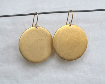 Tag Earring, Large Gold
