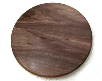 Small Walnut Lazy Susan.  Great addition for serving on a small kitchen table! 13""