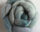 cloudy 4oz Handpainted Polwarth Spinning Fiber