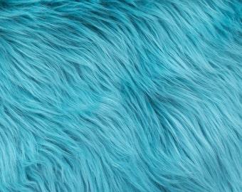 Half Yard Turquoise Shag