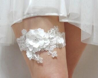 Lace Bridal Garter, Bridal Garter , Wedding Garter, Satin Garter, Lace Garter, Bride garter set