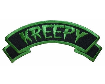 Kreepy Name Tag Horror Death Zombie Kreepsville Embroidered Iron On Applique Patch