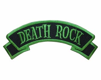 Death Rock Name Tag Horror Punk Kreepsville Embroidered Iron On Applique Patch