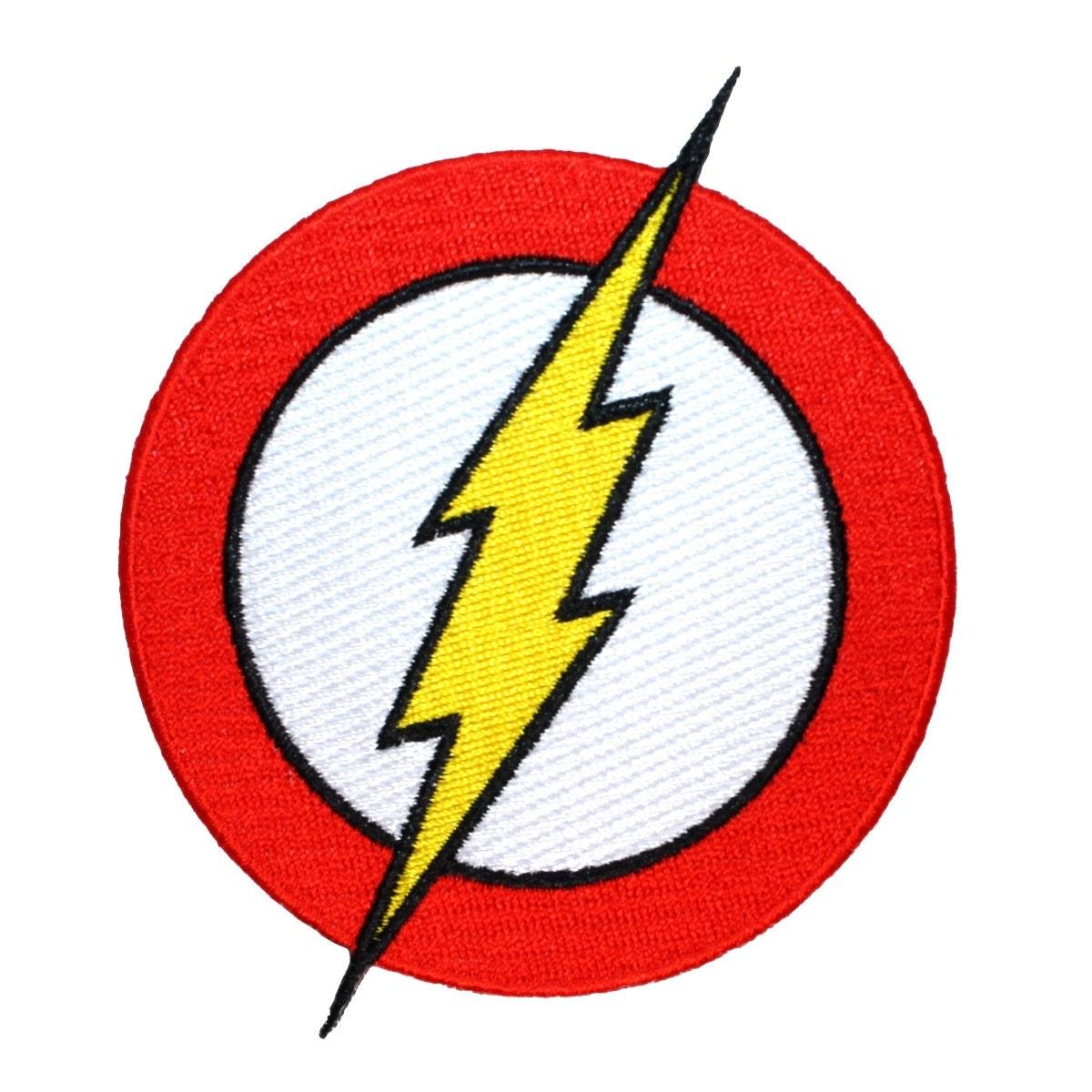 flash logo superhero costume lightning emblem dc comics