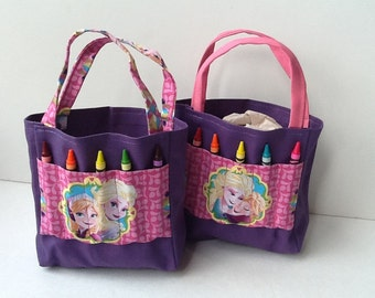 Frozen Children's Crayon Bag and Birthday Party Favor