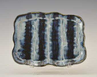 Stoneware soap dish, pottery trinket dish, ceramic candy dish